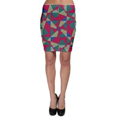 Shapes in squares pattern Bodycon Skirt