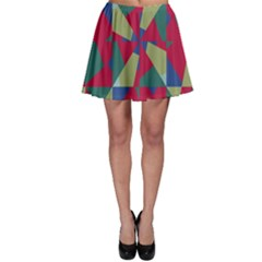 Shapes in squares pattern Skater Skirt