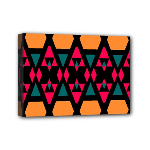 Rhombus And Other Shapes Pattern Mini Canvas 7  X 5  (stretched)