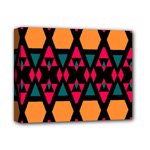 Rhombus And Other Shapes Pattern Deluxe Canvas 14  X 11  (stretched)
