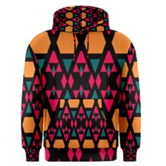 Rhombus and other shapes pattern Men s Pullover Hoodie