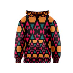 Rhombus and other shapes pattern Kid s Pullover Hoodie