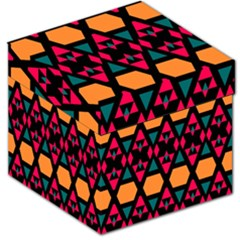 Rhombus and other shapes pattern Storage Stool