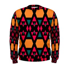 Rhombus and other shapes pattern  Men s Sweatshirt