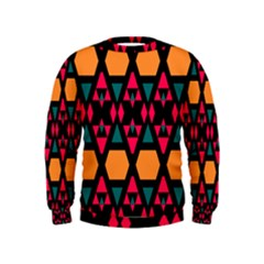 Rhombus and other shapes pattern  Kid s Sweatshirt