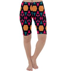 Rhombus and other shapes pattern Cropped Leggings