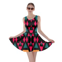 Rhombus and other shapes pattern Skater Dress