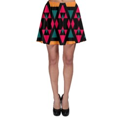 Rhombus and other shapes pattern Skater Skirt