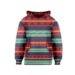 Rhombus And Waves Chains Pattern Kid s Pullover Hoodie