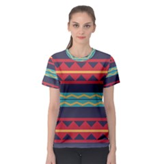Rhombus and waves chains pattern Women s Sport Mesh Tee