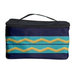 Rhombus and waves chains pattern Cosmetic Storage Case