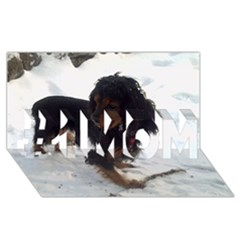 Black Tri English Cocker Spaniel In Snow #1 MOM 3D Greeting Cards (8x4)