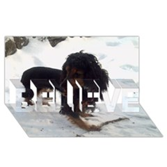 Black Tri English Cocker Spaniel In Snow BELIEVE 3D Greeting Card (8x4)