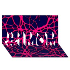 Hot Web Pink #1 MOM 3D Greeting Cards (8x4)