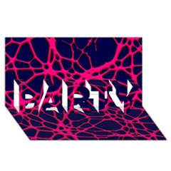 Hot Web Pink PARTY 3D Greeting Card (8x4)
