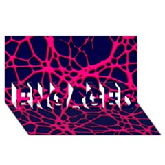 Hot Web Pink Engaged 3d Greeting Card (8x4)