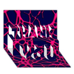 Hot Web Pink Thank You 3d Greeting Card (7x5)