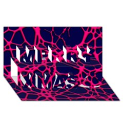 Hot Web Pink Merry Xmas 3D Greeting Card (8x4)