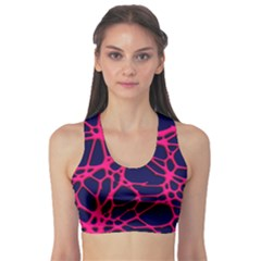 Hot Web Pink Sports Bra