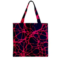 Hot Web Pink Grocery Tote Bags