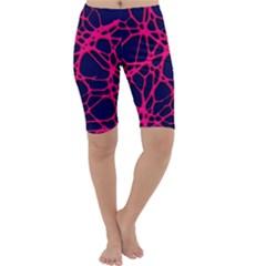 Hot Web Pink Cropped Leggings