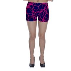 Hot Web Pink Skinny Shorts