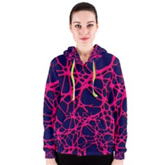 Hot Web Pink Women s Zipper Hoodies