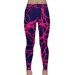 Hot Web Pink Yoga Leggings