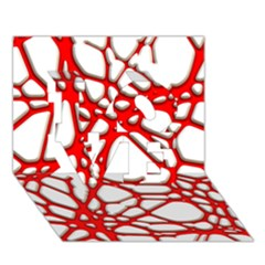 Hot Web Red LOVE 3D Greeting Card (7x5)