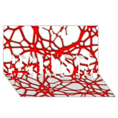 Hot Web Red #1 Mom 3d Greeting Cards (8x4)
