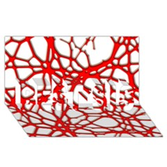 Hot Web Red Best Sis 3d Greeting Card (8x4)