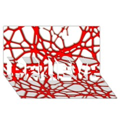 Hot Web Red BELIEVE 3D Greeting Card (8x4)