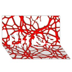 Hot Web Red Hugs 3d Greeting Card (8x4)