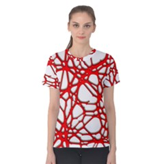Hot Web Red Women s Cotton Tees