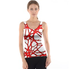 Hot Web Red Tank Tops