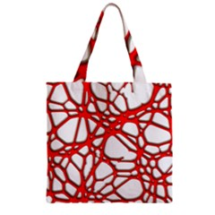 Hot Web Red Zipper Grocery Tote Bags