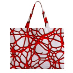 Hot Web Red Zipper Tiny Tote Bags