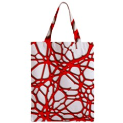 Hot Web Red Zipper Classic Tote Bags