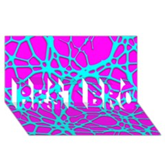 Hot Web Turqoise Pink Best Bro 3d Greeting Card (8x4)