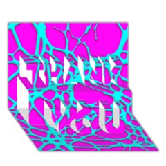 Hot Web Turqoise Pink THANK YOU 3D Greeting Card (7x5)