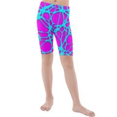 Hot Web Turqoise Pink Kid s swimwear