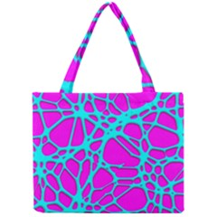 Hot Web Turqoise Pink Tiny Tote Bags