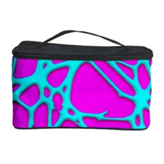 Hot Web Turqoise Pink Cosmetic Storage Cases