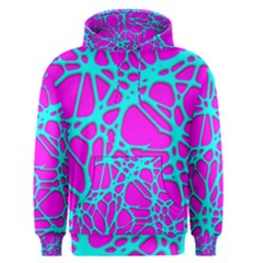 Hot Web Turqoise Pink Men s Pullover Hoodies