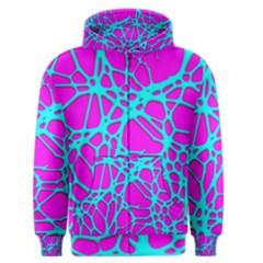 Hot Web Turqoise Pink Men s Zipper Hoodies