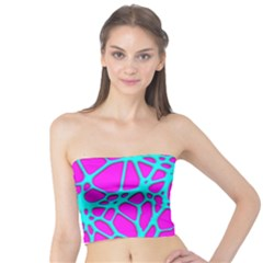 Hot Web Turqoise Pink Women s Tube Tops