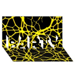 Hot Web Yellow Party 3d Greeting Card (8x4)