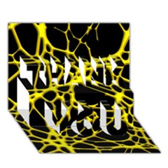 Hot Web Yellow THANK YOU 3D Greeting Card (7x5)