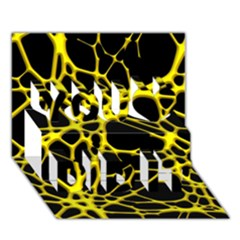 Hot Web Yellow You Did It 3D Greeting Card (7x5)