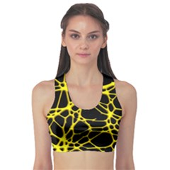 Hot Web Yellow Sports Bra